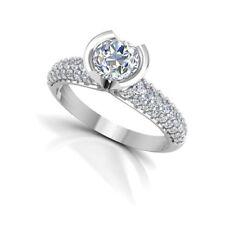 0.99 Carat Natural Solitaire Diamond Engagement Ring 950 Platinum Size M N O P J