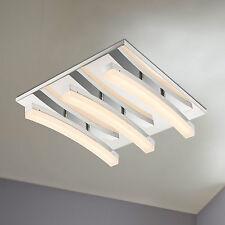 WOFI Plafonnier LED Colmar 3 feuilles Chrome Lampe moderne 21 Watt 1.380 Lumen