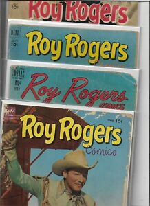 roy rogers golden age 4 comic book lot