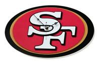 San Francisco 49ers 3D Fan Foam Logo Wanduhr,NFL Football,Relief Wall Clock