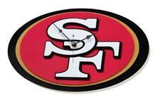 San Francisco 49ers 3D Fan Foam Logo Wall Clock, Nfl Football, Relief Wall Clock