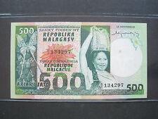 New listing Madagascar 500 Francs 1974 Malagasy Malagache Sharp 297# Banknote Money