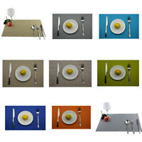 Solid Color Table Mat Bowl Pad Coasters Waterproof Heat InsulationTable Placemat