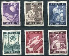 Österreich 999 - 1004 postfrisch 1954 Gesundheitsvorsorge Bestzustand MNH