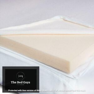 2 inch Memory Foam Mattress Topper WITH Cool touch Fabric COVER