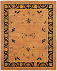 """Vintage Hand-Knotted Carpet 8'1"""" x 9'10"""" Traditional Geometric Wool Area Rug"""
