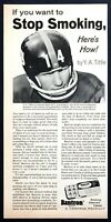 1968 New York Giants QB Y.A. Tittle photo Bantron Stop Smoking Tablets print ad