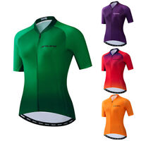 Green Women Cycling Jersey MTB Short Sleeve Bike T-Shirt Bicycle Clothing Tops