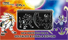 Nintendo 3DS XL Pokemon Solgaleo Lunala Sun/Moon Black Edition