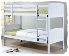 Camden White Solid Timber SINGLE Bunk Bed - BRAND NEW