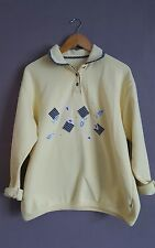 Urban Outfitters VTG Renewal Yellow Granny Style Collared Jumper 12/14