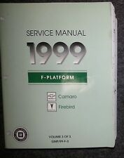 Werkstatthandbuch / Shop manual Pontiac Firebird & Camaro 1999 Original