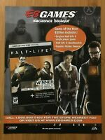 Half-Life 2 PC 2004 Vintage EB GAMES Poster Ad Art Print Official Promo FPS Rare