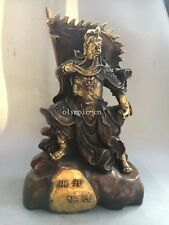 20'' bronze gild gold colored carved win victory in the first battle Guan Gong