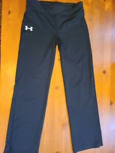 UNDER ARMOUR YOUTH BLACK YOGA/FITNESS PANTS Size L