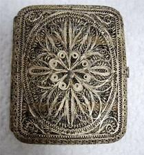 Vintage 800 Silver Intricate Cannetille Filigree Cigarette Card Case
