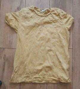 Ladies 'PRIMARK- Be Kind logo' Yellow short sleeve T-Shirt. Size S. vgc.