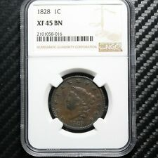 1828 Large Cent NGC XF45 (58016)