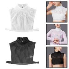 Women Detachable Fake Collar with Stringy Selvedge Lapel Necklace Shirt Decor