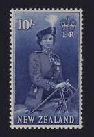 New Zealand Sc #301 (1953) 10/- violet blue Queen Elizabeth Mint VF NH MNH