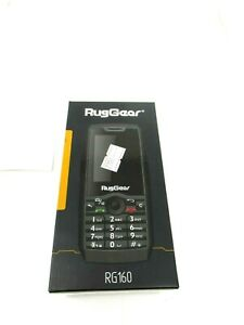RugGear RG160 Light Black Keypad Phone GPS WiFi Android Cell Phone *NEW*
