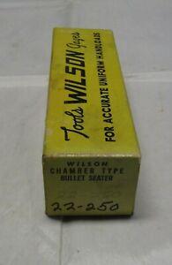 Wilson Chamber Type Seating Die, 22/250