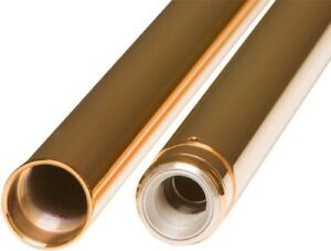 Custom Cycle 41mm Gold Fork Tubes - 20.25in. T 2000TN 0404-0331