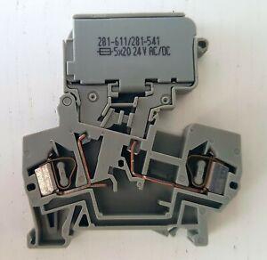 WAGO Sicherungsklemme 281-611/281-541 mit LED-Anzeige NEU