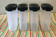 Tupperware Large Spice Containers Set Of 4 Black Seasoning Condiments