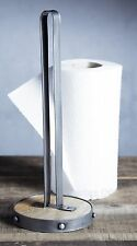 Industrial Kitchen Metal / Wooden Upright Work Top Towel Stand Holder