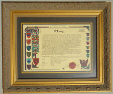 Celtic O'leary Irish Family History Plaque Frame w/Coat of Arms Crest Picture