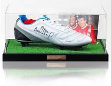 Peter Beardsley Hand Signed Football Boot Liverpool F.C. AFTAL Photo Proof COA