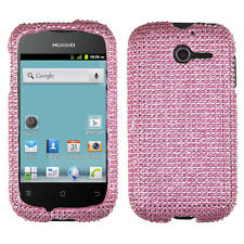 For Huawei Ascend Y H866C Crystal Diamond BLING Hard Case Phone Cover Pink