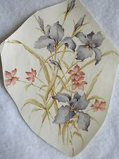 """Large Iris Floral Bouquet Flowers Ceramic Water Slide Decal - NEW - 6"""" X 7-1/2"""""""