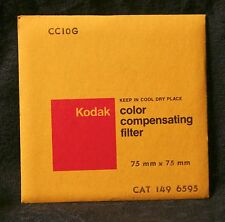 CC10G - KODAK gelatin color compensating filter 75mm x 75mm - 3 x 3 inch SEALED