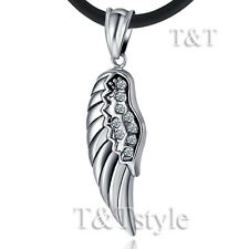 Top Quality T&T 316L Stainless Steel Angel Wing Pendant Necklace (NP199)
