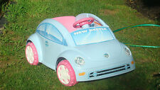 FP POWER WHEELS VOLKSWAGEN VW BEETLE ~ POWDER BLUE w/6V BATTERY & CHARGER ~ EUC
