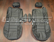2003 - 2006 Hummer H2 Black Leather Seat Covers Custom Interior Upholstery