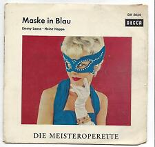 Heinz Hoppe + Emmy Loose : Maske in Blau  - Decca Füllschrift Single DX 2024
