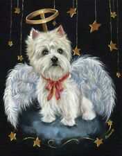 """Precious Pets Note Cards - Westie Angel 5"""" x 7"""" ~ Charity!"""