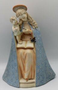"HUMMEL ""Blumen Madonna"" 10/1 Western Germany Keramik Jungfrau Maria Jesuskind-49"