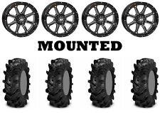Kit 4 ITP Cryptid Tires 30x10-14 on STI HD4 Gloss Black Wheels IRS