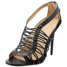 L.A.M.B. Womens Raivyn Black Peep-Toe Heels Shoes 8 Medium (B,M)