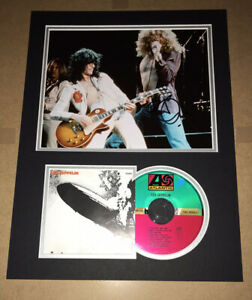 SIGNED ROBERT PLANT 16x12 MOUNTED DISPLAY LED ZEPPELIN RARE AUTHENTIC JIMMY PAGE