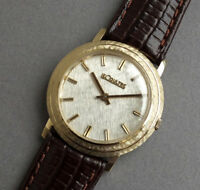 JAEGER LECOULTRE 18K Solid Gold Vintage Gents Watch 1970 - SERVICED