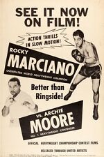 Rocky Marciano Archie Moore Original Vintage Fight Boxing Poster his Last fight