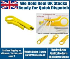 BT & RJ45 Cable Network IDC Cable Insertion Punch Down Tool Metal blade Stripper