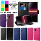 For All Sony Xperia 10 iii/ii 5 ii L4/3/2/1 E4/3/1 4G Leather Flip Wallet Case