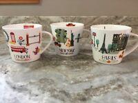 Coffee Mug By Grace's Teaware Paris, New York Or London. You Choose. New.
