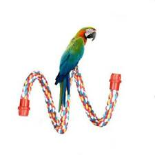 Bird Rope Perches Cage Accessories Comfy Perch Parrot Cotton Bungee Pet Toys KY